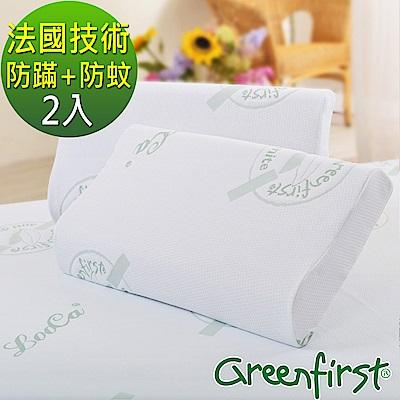 LooCa 法國防蹣防蚊特大透氣記憶枕-2入