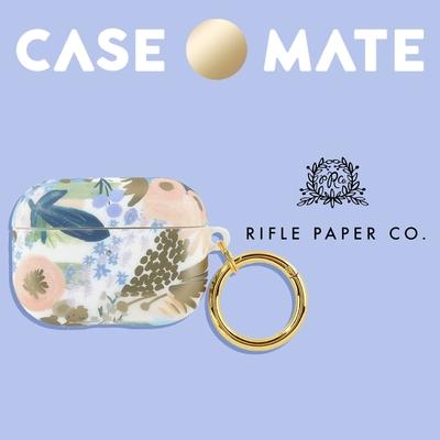 美國 Case●Mate AirPods Pro 抗菌保護套 (贈扣夾) - Rifle Paper Co.聯名款 - 路易莎