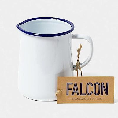 英國Falcon 獵鷹琺瑯 琺瑯1品脫冷水壺 586ml 藍白