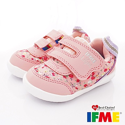 IFME健康機能鞋 超輕碎花學步款 EI70302粉(寶寶段)