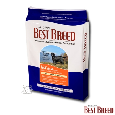 BEST BREED貝斯比 水牛肉+蔬果配方 無穀全齡犬糧 13.6kg