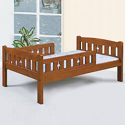 Homelike 波娜護欄床架組-單人3.5尺(不含床墊)
