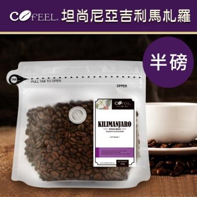 CoFeel 凱飛鮮烘豆坦尚尼亞吉利馬札羅中深烘焙咖啡豆半磅
