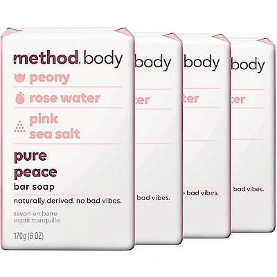 method美則感官沐浴皂-純粹寧靜 170g*4入