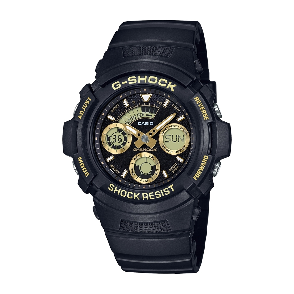 CASIO卡西歐 G-SHOCK 雙顯系列 AW-591GBX-1A9_46.4mm product image 1