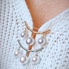 Hera 赫拉  簡約配件防走光珍珠一字領針/胸針-2色