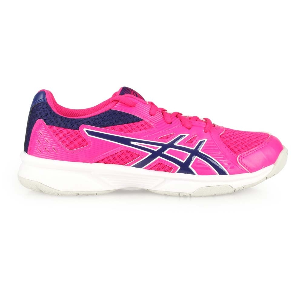 ASICS UPCOURT 3 女排羽球鞋-訓練 亞瑟士 排球 羽球 1072A012-500 桃紅丈青
