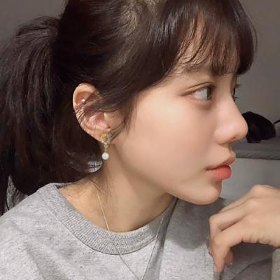 梨花HaNA 韓國愛心珍珠恬靜花園耳環