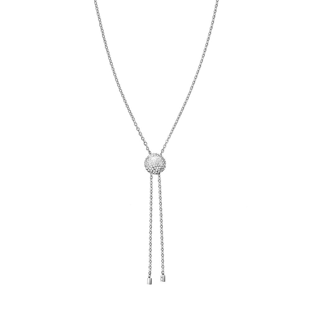 CALVIN KLEIN side 系列項鍊-球型晶鑽銀色版