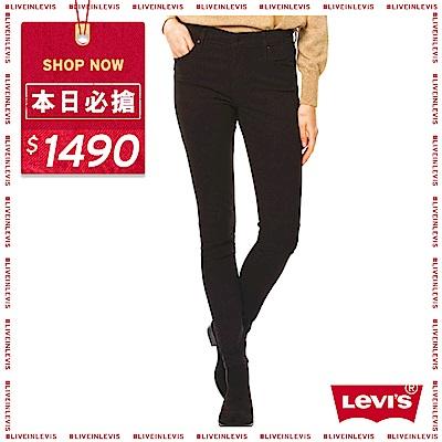 Levis 女款 721 高腰緊身窄管牛仔褲 黑色基本款 彈性布料
