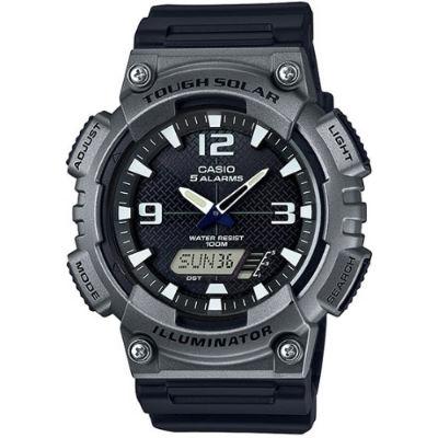 CASIO 城市遊俠太陽能雙顯腕錶-灰(AQ-S810W-1A4)/52mm