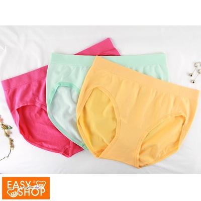 EASY SHOP-iMEWE-長效抗菌無縫高彈低腰三角內褲-馬卡龍色(三件組)