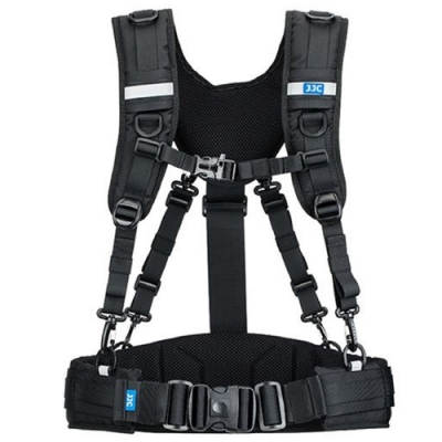 JJC雙肩反光攝影背心胸匣擴充腰帶組GB-PRO1(2種揹法;相容DLP、Lowepro S&F系列、樂攝寶鏡頭筒)
