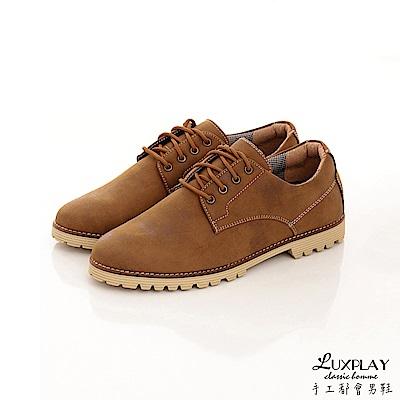 LUXPLAY 男款 日本和風款福樂休閒鞋 WK238棕 @ Y!購物