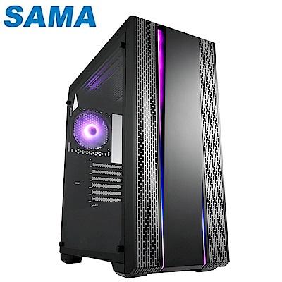 SAMA 先馬 SA3901(B) 璃光戰士 玻璃透側 ATX 電腦機殼