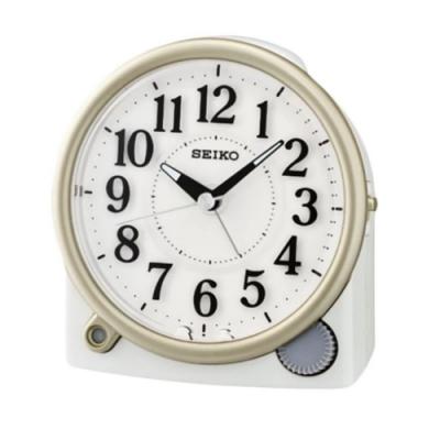SEIKO 精工 滑動式秒針 嗶嗶聲 靜音 貪睡鬧鐘(QHE176W)米/12X11cm