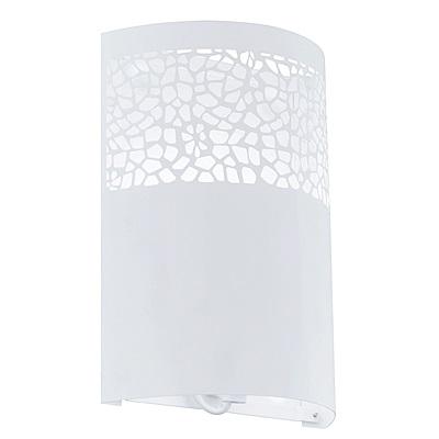 EGLO歐風燈飾 現代白美型圓弧式壁燈(不含燈泡)