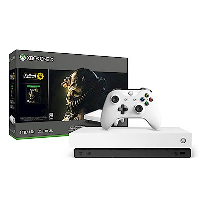 Xbox One X 1TB 機械白特别版 + 《異塵餘生 76》同捆組