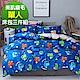 Ania Casa童趣恐龍 柔絲絨美肌磨毛 台灣製 單人床包被套三件組 product thumbnail 1