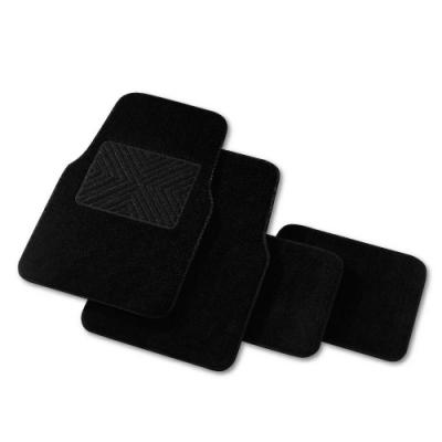 高質感絨毛車用踏墊-四片式-黑色