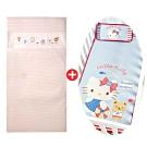【les enphants(麗嬰房)】有機棉透氣床墊+專用冰絲涼蓆/枕特惠組(2款可選)