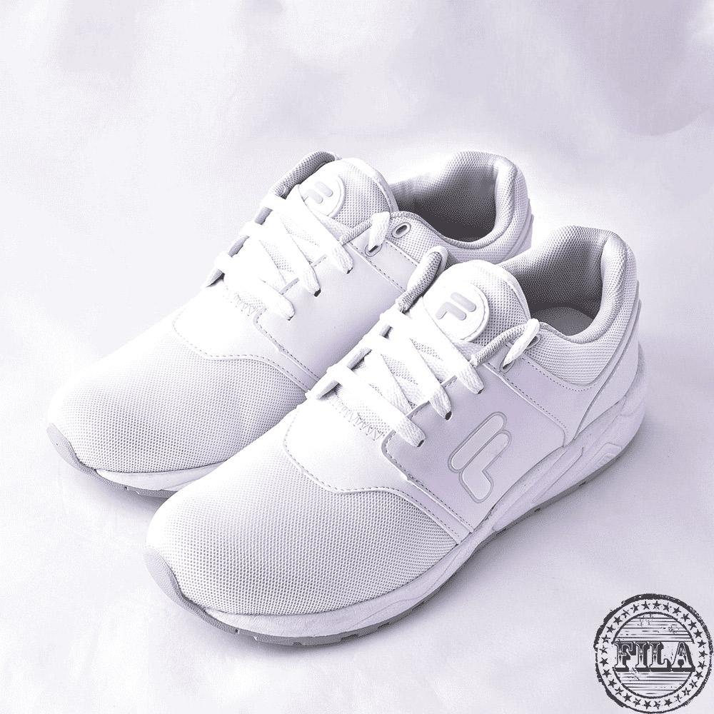 FILA男款輕量慢跑鞋~白 1-J316S-114 @ Y!購物