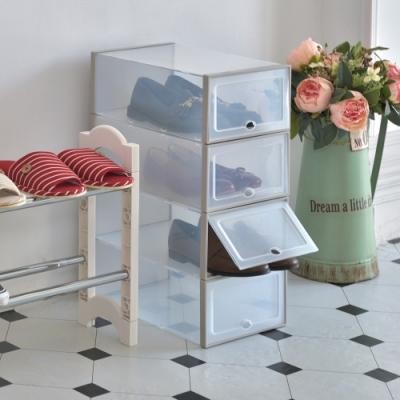 【ikloo】掀蓋透明置物收納/鞋盒