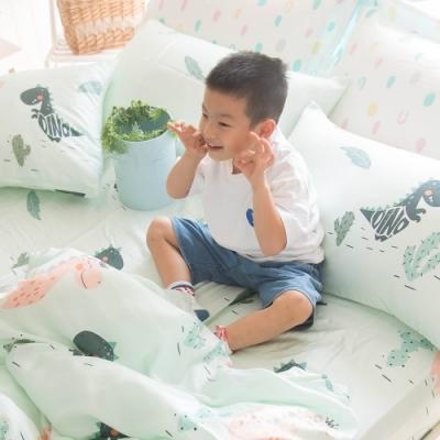 OLIVIA 恐龍樂園  加大雙人床包美式枕套三件組  230織天絲萊賽爾 台灣製