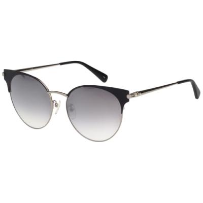 LONGCHAMP 水銀面 太陽眼鏡 (銀配黑)LO114