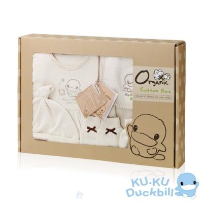 KUKU酷咕鴨秋冬有機純棉禮盒(0-6M適用)附紙袋