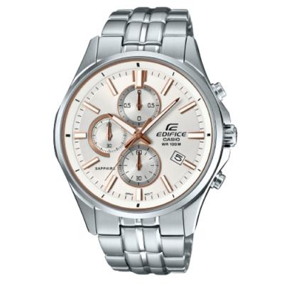 CASIO卡西歐 經典簡約白色錶面腕錶(EFB-530D-7A)
