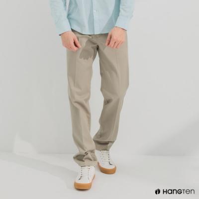Hang Ten-男裝-經典款-REGULAR FIT防皺褲-淺卡其