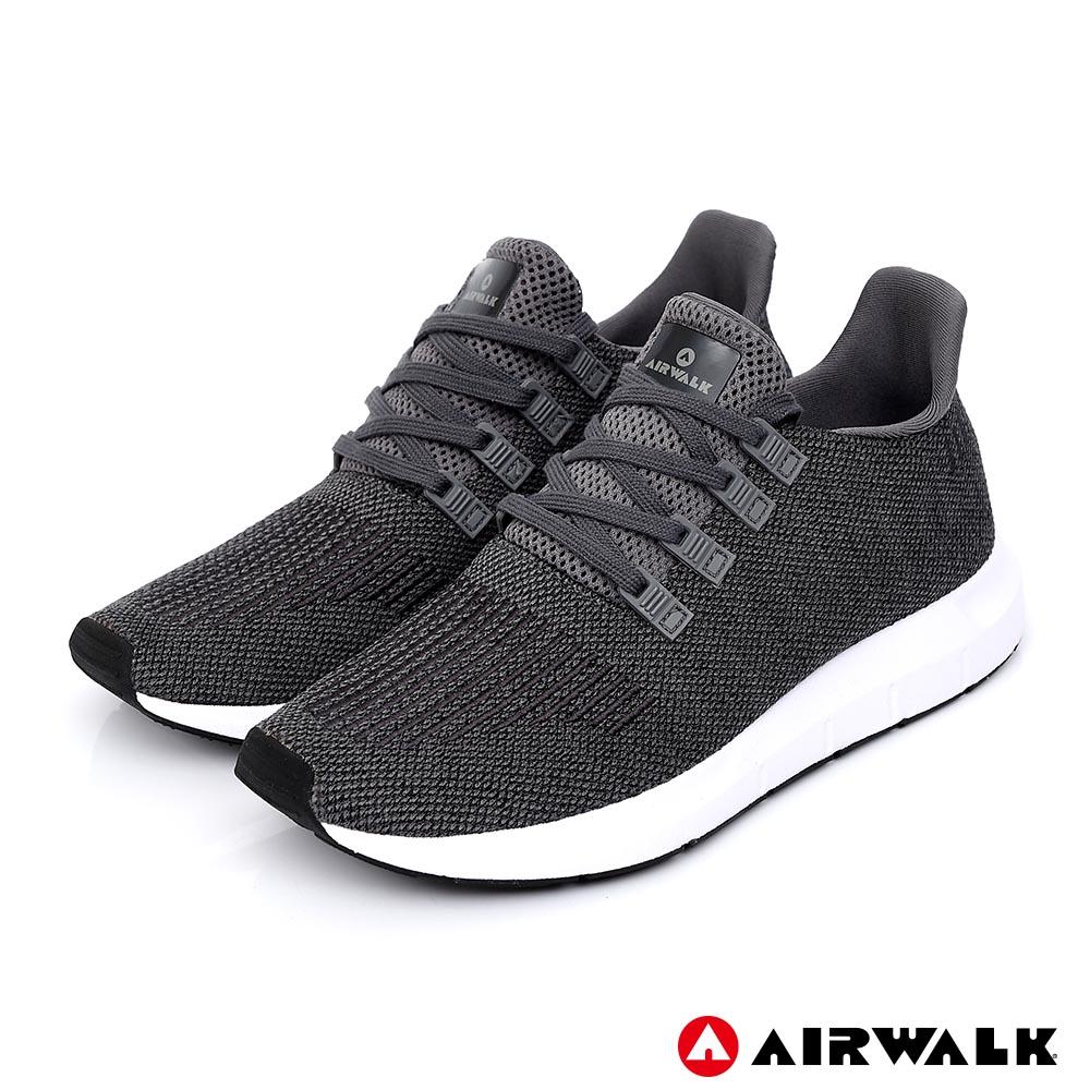 【AIRWALK】動力進擊休閒運動鞋-男款-深灰