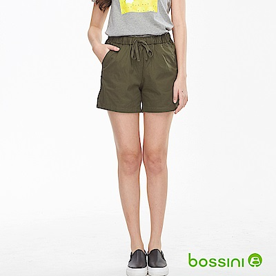 bossini女裝-素色輕便短褲01綠