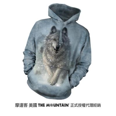 摩達客 美國進口The Mountain 雪狼開路  長袖連帽T恤