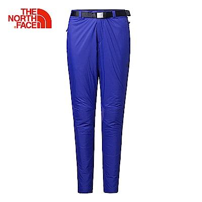 The North Face北面女款藍色合身保暖舒適長褲|3L9KZDE