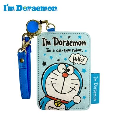 日本正版 哆啦A夢 皮革 彈力票卡夾 票夾 證件套 悠遊卡夾 小叮噹 三麗鷗 496944