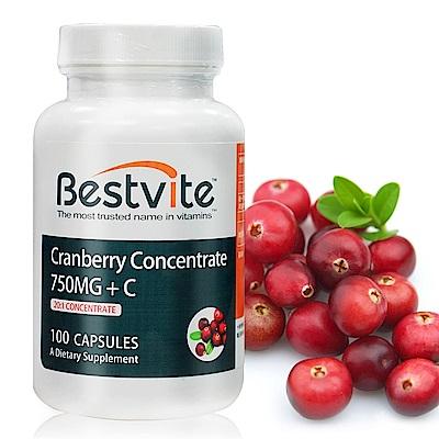 美國BestVite 必賜力高濃縮蔓越莓膠囊1瓶 (100顆)