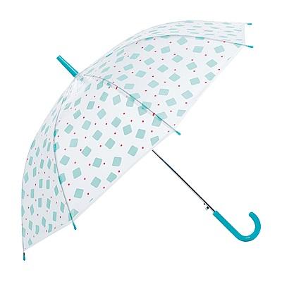 樂嫚妮 自動開直立雨傘-馬卡龍方塊