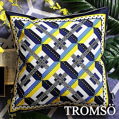 TROMSO 奢華義大利棉麻抱枕-U184輝煌方摩登