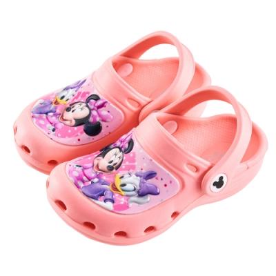 迪士尼童鞋 米妮 黛絲造型防水休閒拖鞋-粉