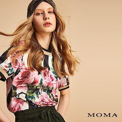 MOMA 彩繪玫瑰金蔥上衣