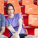 GIORDANO 女裝運動系列吸濕排汗拼接款短袖T恤- 05 花紗紫