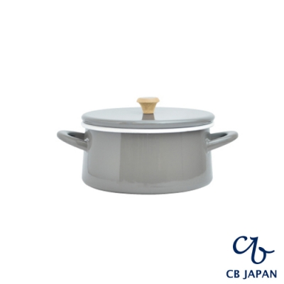 CB 都會系列琺瑯原木雙耳湯鍋18.5cm/琺瑯鍋