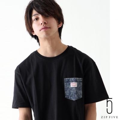 ZIP日本男裝 KANGOL聯名款短袖口袋T(12色)