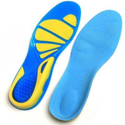 JHS杰恆社 矽膠減震運動鞋墊 跑步防滑防痛墊透氣abe142