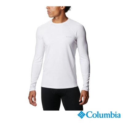 Columbia 哥倫比亞 男款- Omni HEAT 鋁點保暖快排內著上衣-白色 UAM63230WT