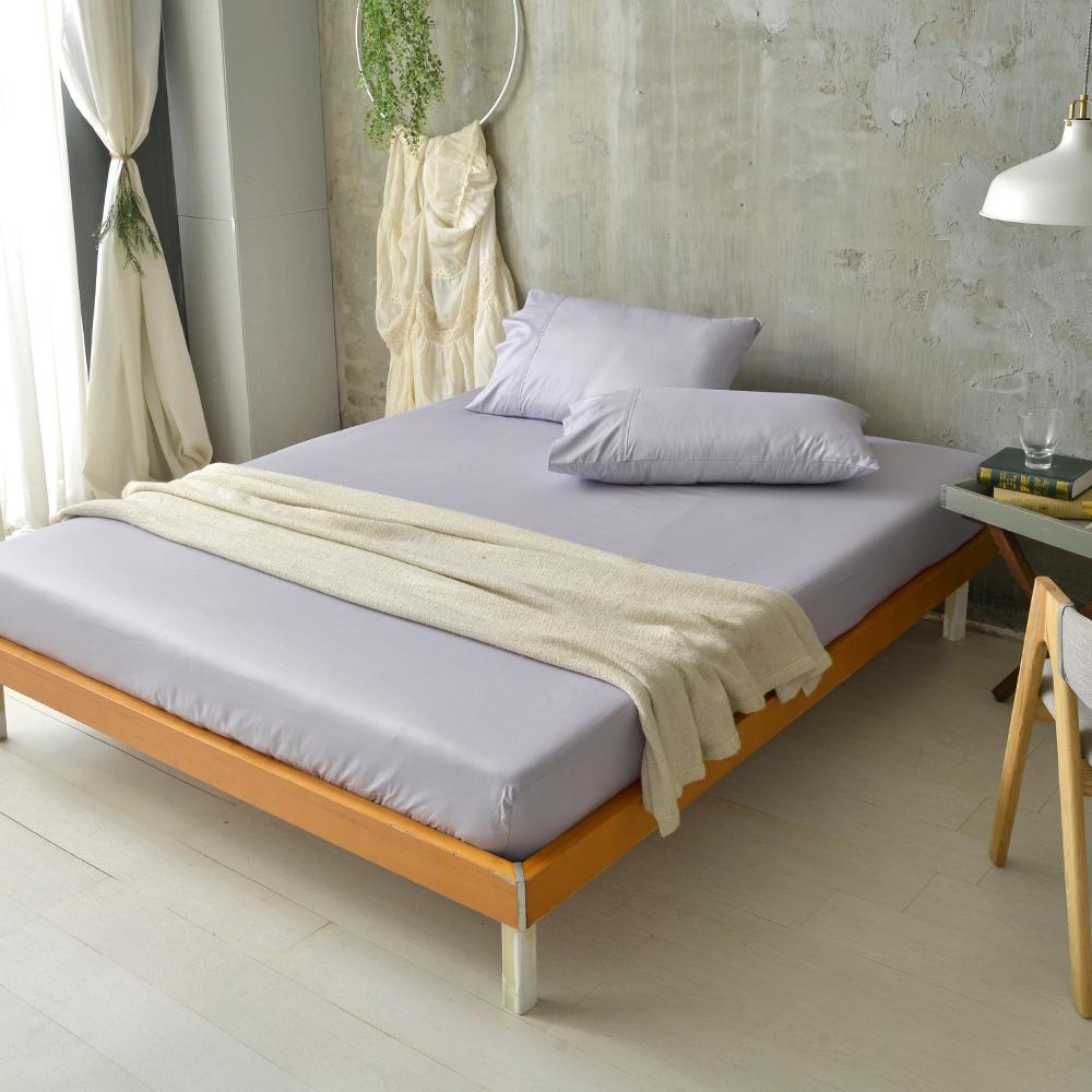 澳洲Simple Living 特大300織台灣製純棉床包枕套組(月見紫)