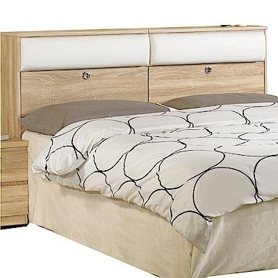 文創集 西莎時尚5尺皮革雙人床頭箱-152x25x101cm免組