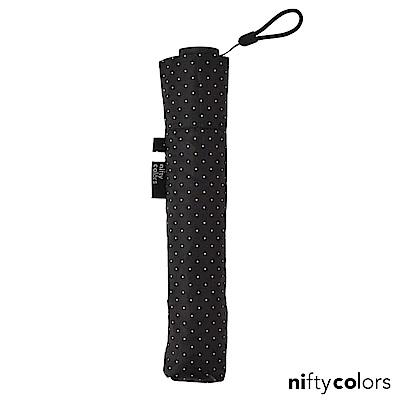 nifty colors 超輕量97克抗UV晴雨傘(黑點點)